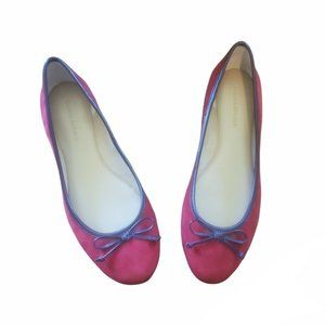 Banana Republic Red Bow Leather Flats 7.5 Never Worn